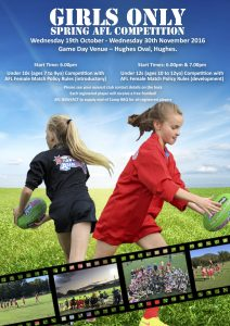 Girls Only Spring Comp Flyer